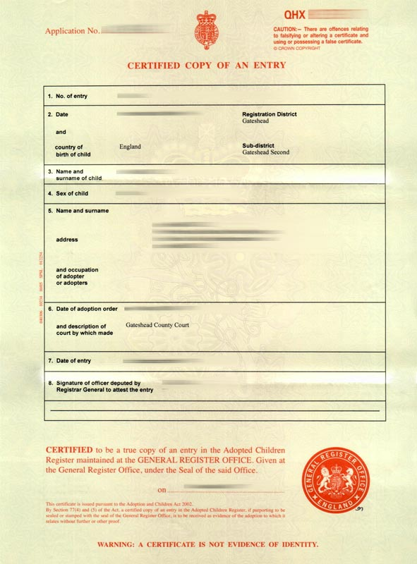 full birth certificate uk sample images